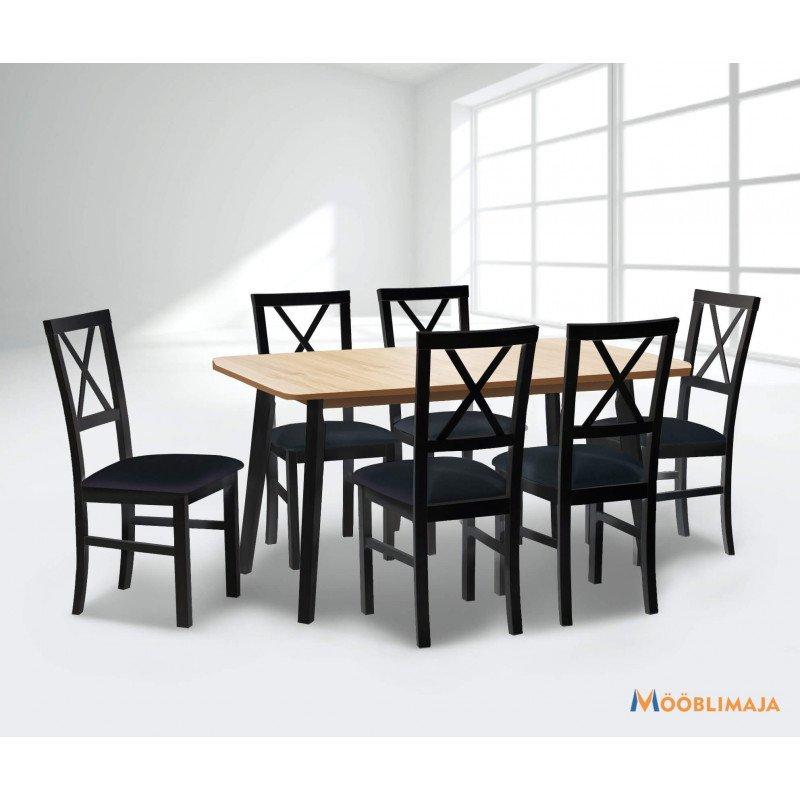 Söögitoa komplekt (laud + 6 tooli)