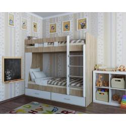 Двухярусная кровать с матрасами 80 Кофорт